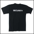 "MFH T-Shirt ""Security"", Schwarz - Gr. L"