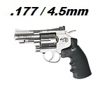 "ASG x Dan Wesson Co² Revolver 2.5"" 4.5mm BB - Chrome"