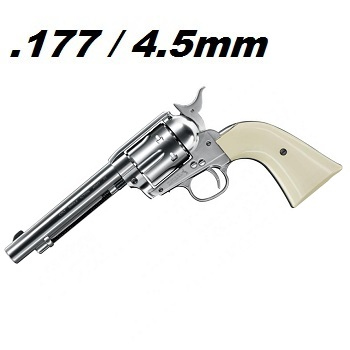 "Colt S.A.A. .45 ""Peace Maker"" Co² Revolver 4.5mm Diabolo - Nickel/Pearl"