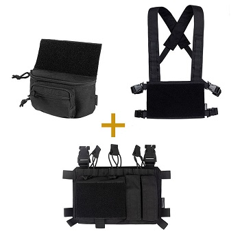 OneTigris ® Chest Rig Panel System Set - Black