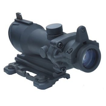 Aim-O ACOG 4x32 QD Scope & Iron Sights, beleuchtet - Black