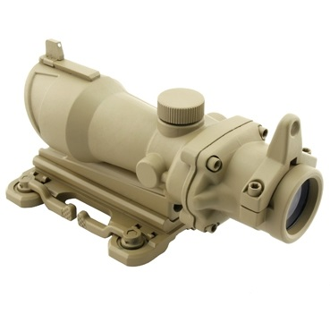 Aim-O ACOG 4x32 QD Scope & Iron Sights, beleuchtet - Desert