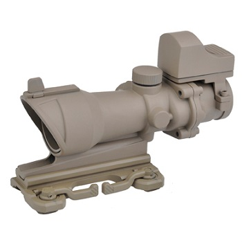 Aim-O ACOG 4x32 QD Scope & miniRedDot - Desert