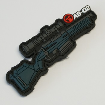 Ares X Amoeba Striker AS-02 PVC Patch - Urban Grey