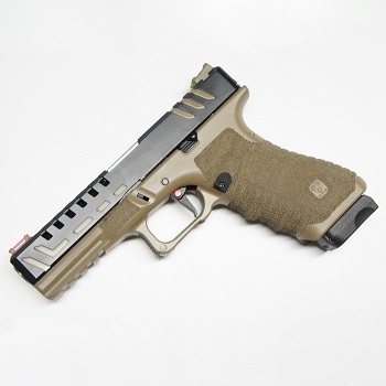 "APS ACP ""Scorpion"" Co² Pistole BlowBack  (Dual Tone Slide) - Desert"