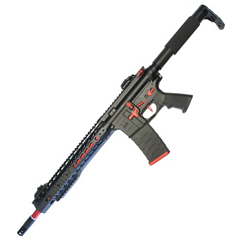 "APS M4 KeyMod 12.5"" Match AEG/EBB - Black/Red"