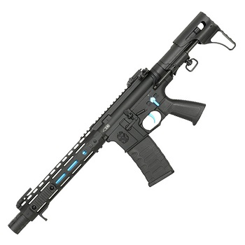 "APS M4 ""Ghost Patrol Rifle"" 10"" M-LOK AEG/EBB - Black/Blue"