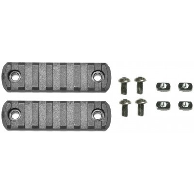 "APS Rail Section ""M-LOK"" (7 Slots) - Black (2er Pack)"