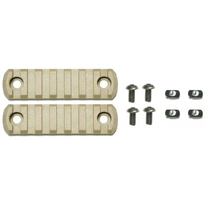 "APS Rail Section ""M-LOK"" (7 Slots) - Desert (2er Pack)"