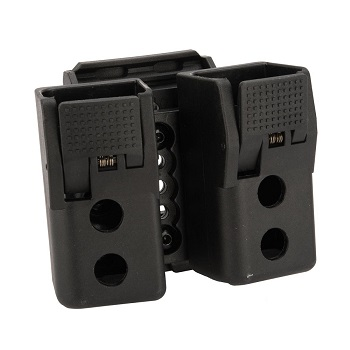 Quantum Mechanics ® Lockable Double Magazine Pouch für Glock 9mm / .40 - Black