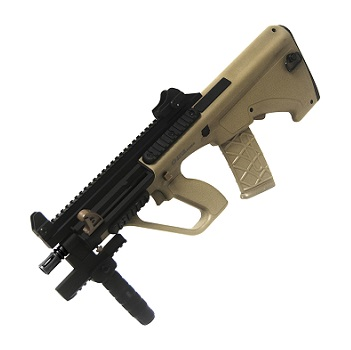 "APS x Steyr AUG A3 XS ""Commando"" QSC AEG - TAN"