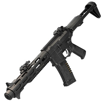 "Ares x Amoeba M4 ""Honey Badger"" Mid-Lenght EFCS AEG - Black"