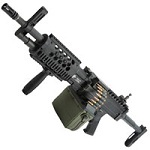 Ares x Knight's Stoner LMG Light Machine Gun QSC AEG - Black