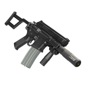 "Ares x Amoeba M4 ""Tactical Pistol"" Folding Stock EFCS AEG - Black"