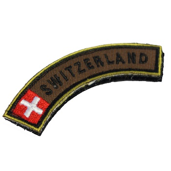 Army Patch mit Velcro - Switzerland