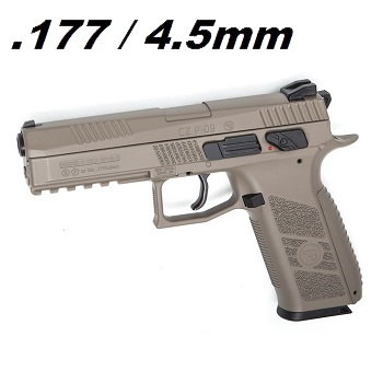 ASG x CZ P-09 DUTY Co² BlowBack Pistole 4.5mm Diabolo - Desert
