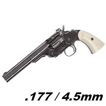 "ASG Schofield 6"" Co² Revolver 4.5mm BB - Stainless"