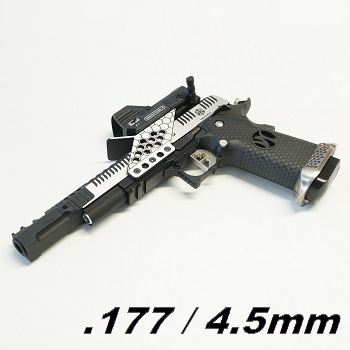 AW Custom HX2401 HiCapa .38 SuperComp Race Pistol Set 4.5mm BB - Dual Tone
