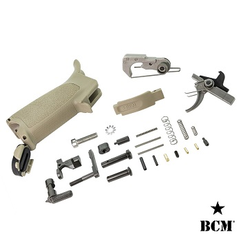 "BCM ® Lower Receiver Parts, Trigger & Grip Kit ""FDE"" für AR-15 / M4"