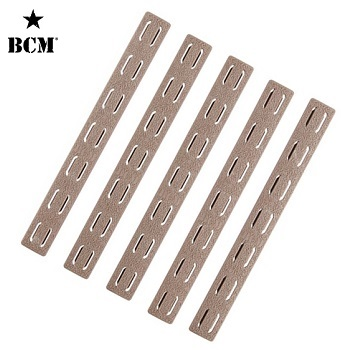 BCM ® Low Profile KeyMod Rail Panel Covers (5er Pack) - FDE