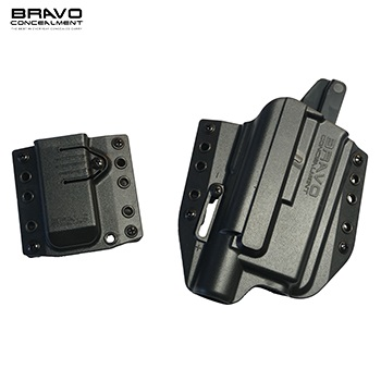 Bravo Concealment ® BCA 3.0 OWB Holster & Mag Carrier für Glock ® Serie Light Bearing (X300), rechts - Black