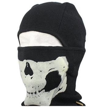 Emerson Skull Tactical Warmer Hood Full Face Mask - Black