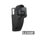 BLACKHAWK! ® CQC Gürtelholster M92/96 Reihe, links - Black