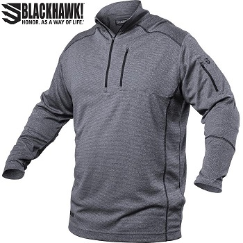 BLACKHAWK! ® Convoy 1/4 Zip Shirt, Grey - Gr. L