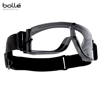 Bollé ® X800 III Tactical Goggle, Black - Clear