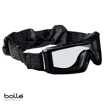 Bollé ® X810 Tactical Goggle, Black - Clear