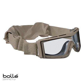 Bollé ® X810 Tactical Goggle, Desert - Clear