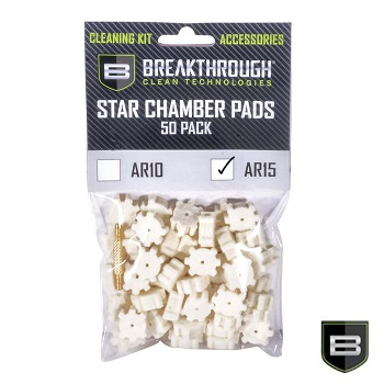 Breakthrough ® AR-15 Star Chamber Cleaning Pads für AR-15 / M4 (50er Pack)