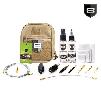 "Breakthrough ® Quick Weapon Improved Cleaning Kit ""3 Gun"" (9mm/5.56mm/12 GA) - Desert"