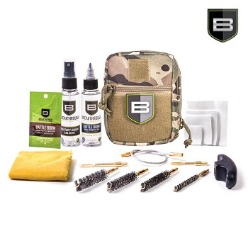 "Breakthrough ® Quick Weapon Improved Cleaning Kit ""Pistol"" (.22/9mm/.40/.45) - MultiCam"