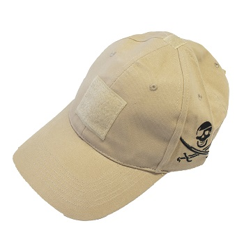 "F.F.I. NAVY SEALs ""Jolly Roger"" Baseball Cap, Coyote - Gr. M/L"