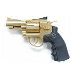 "WinGun Super Sport 708 2.5"" Co² Revolver - Gold"