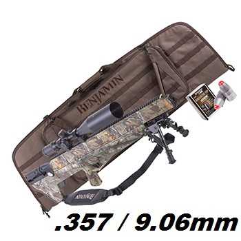 "Crosman x Benjamin BULLDOG .357 HPA Luftgewehr Set 9.06mm Diabolo ""Real Tree Camo"" - 279.3 Joule"