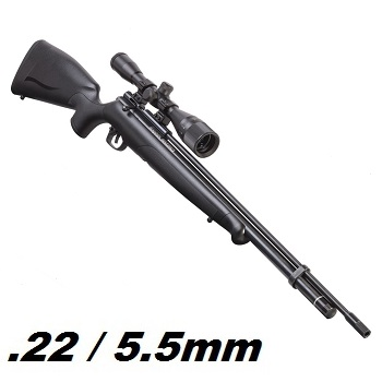 Crosman x Benjamin Maximus Hunter HPA Luftgewehr Set 5.5mm Diabolo, Black - 31 Joule