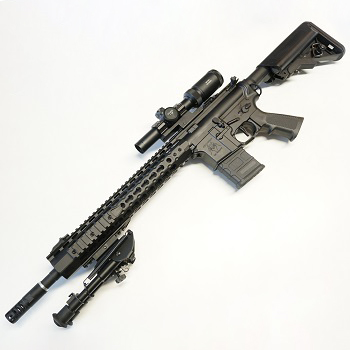 "Custom APS M4 ""KeyMod"" SPR 12.5"" AEG/EBB (Silver Edge) Set - Black"
