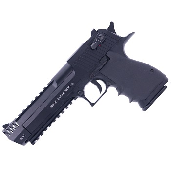 KWC x IMI Desert Eagle L6 .50AE Co² BlowBack (Semi & Auto) - Black