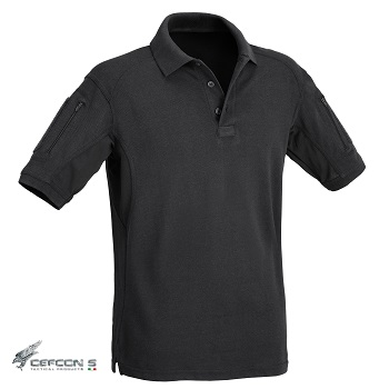 Defcon 5 ® Tactical Polo Shirt, Black - Gr. XL