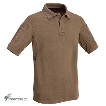 Defcon 5 ® Tactical Polo Shirt, Coyote Brown - Gr. L
