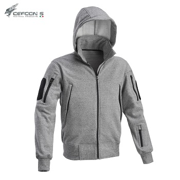 Defcon 5 ® Sweater Jacket, Grey Melange - Gr. XL