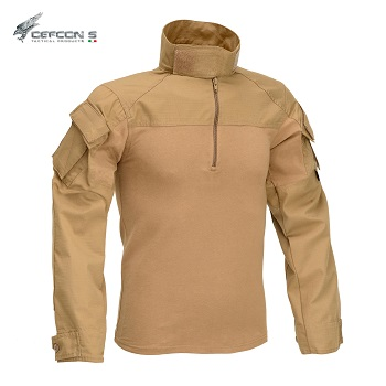 "Defcon 5 ® ACU Combat Shirt ""Coyote Brown"" - Gr. S"
