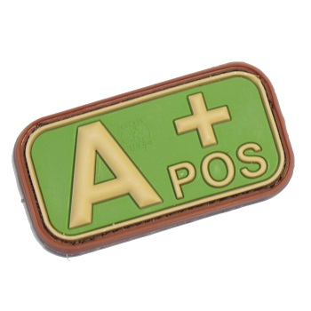 "Defcon 5 ® Blood-Type PVC-Patch ""A, POS"" - MultiCam"