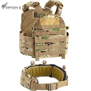 Defcon 5 ® Molle Plate Carrier Vest & Belt - MultiCam