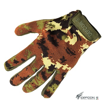 Defcon 5 ® Shooting Gloves, Vegetato - Gr. M