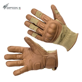 Defcon 5 ® Tactical Combat Kevlar Gloves, Coyote - Gr. L