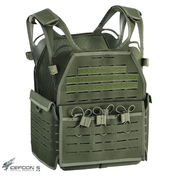 "Defcon 5 ® ""Laser Cut"" Molle Plate Carrier - Olive"