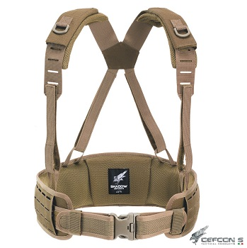 "Defcon 5 ® ""Laser Cut"" Molle Belt, Coyote Brown - L/XL"